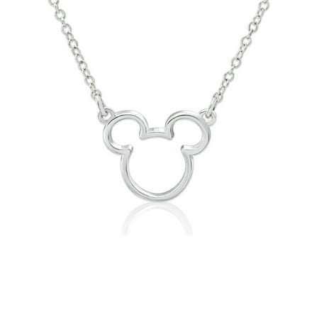 - Disney Sterling Silver Mickey Mouse Necklace with Chain