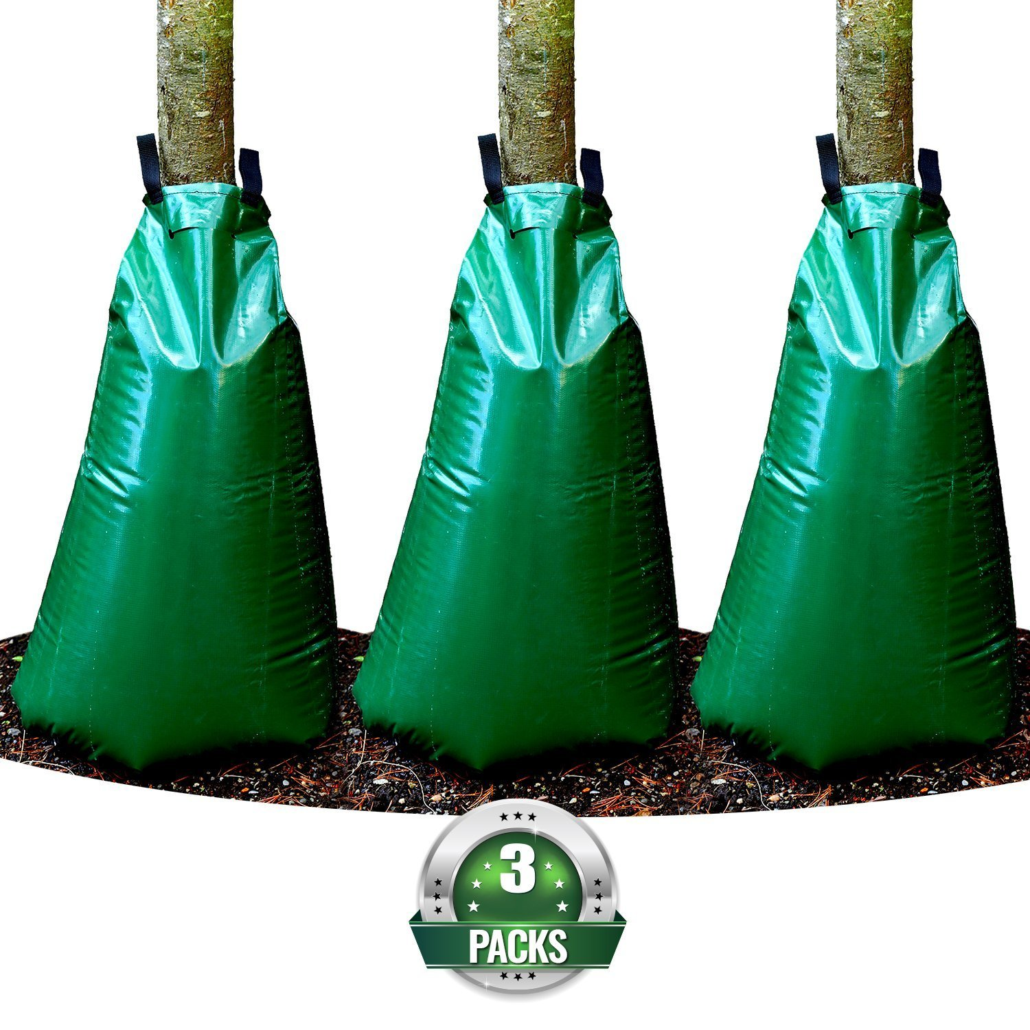 20 Gallon Watering Bags for Trees and Plants, Pack of 3 by