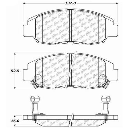 Go-Parts » 1997-2005 Acura EL Front Disc Brake Pad Set for