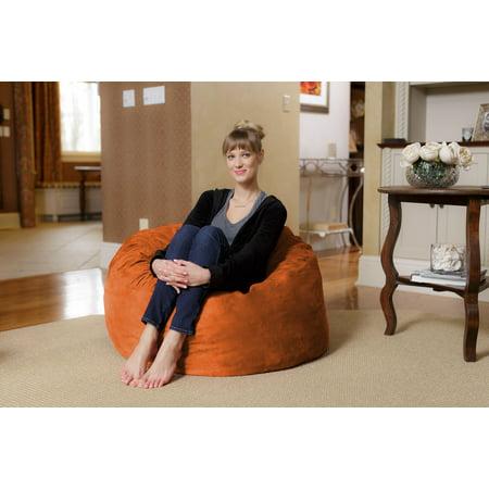Chill Sack 3 Ft Memory Foam Microsuede Bean Bag Chair Multiple Colors