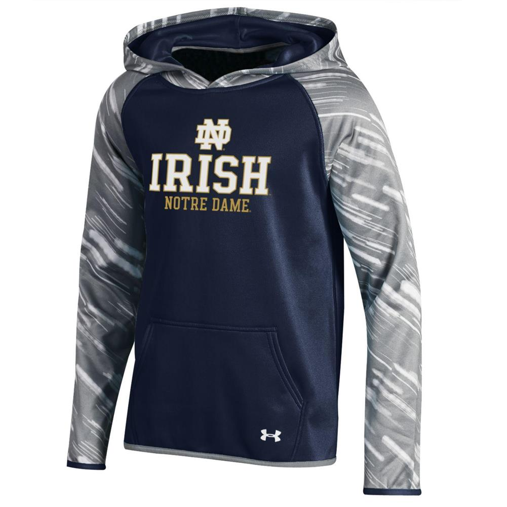 Girl's Printed Notre Dame Fighting Irish Under Armour Hoodie