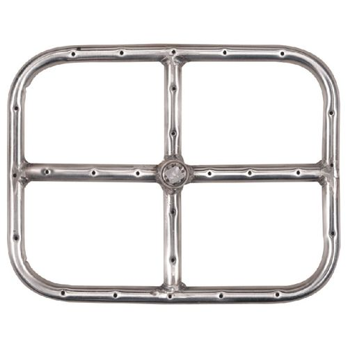 Stainless Steel Rectangular Fire Ring - 12 inch