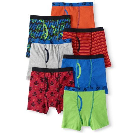 Wonder Nation Boys Skate and Skull Boxer Briefs, 7 Pack