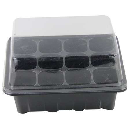 2 Pack Seed Starter Tray 12 Cells Seed Tray Plant Germination Kit Seedling Trays Garden Seed Starting Tray with Dome and Base