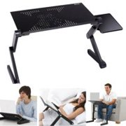 Homdox Black 360 Degree Adjustable Protable Laptop Stand Desk table for bed