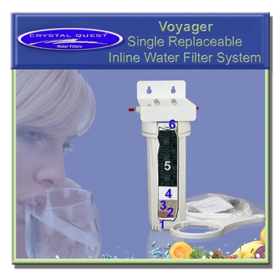 Crystal Quest CQE-IN-00305 Voyager Single Replaceable Inline Water Filter System-Ultimate
