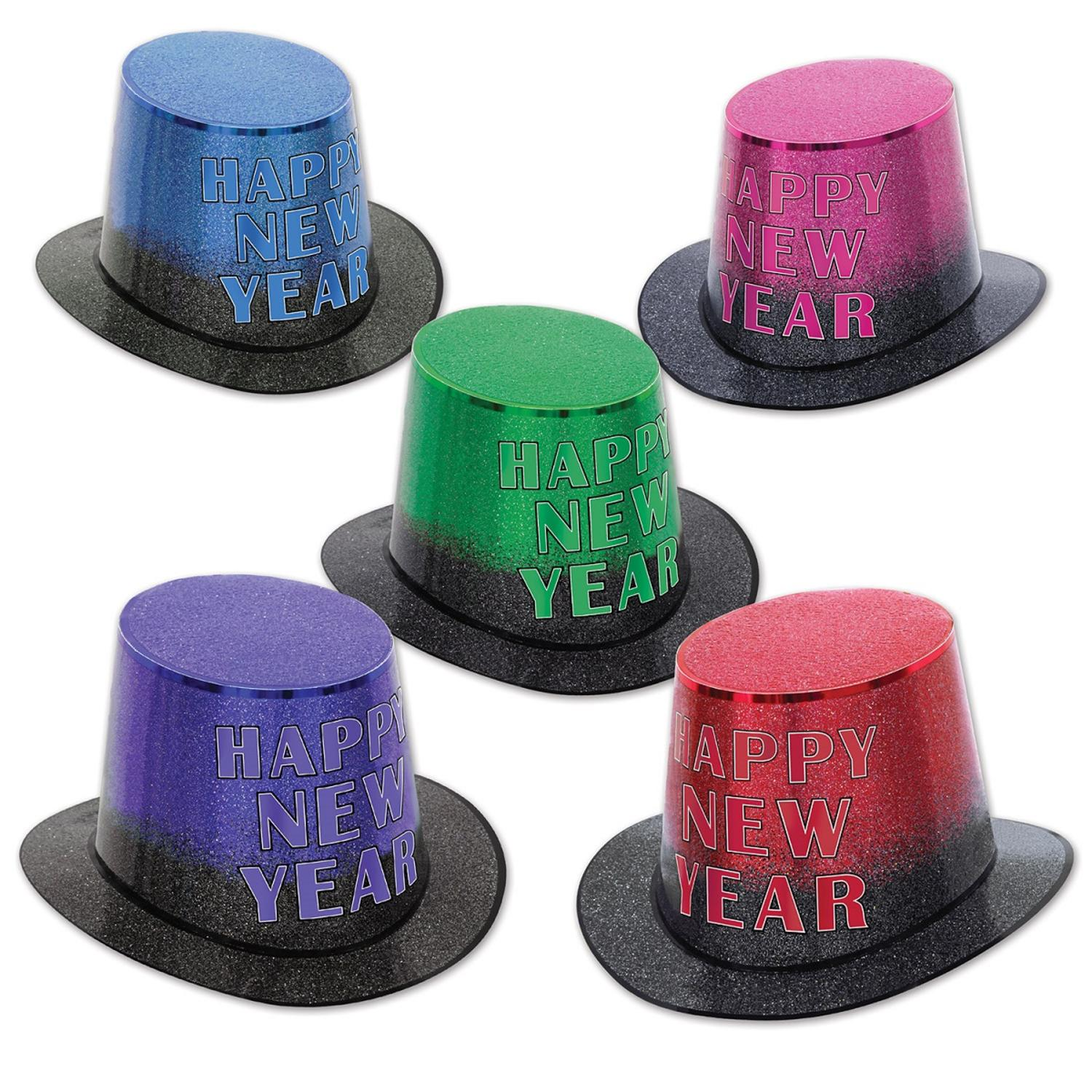 "Club Pack of 25 Mirage ""Happy New Years"" Legacy Party Favor Hat"