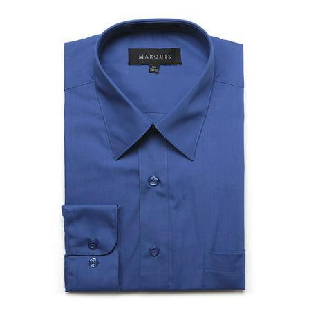Men's Long Sleeve Regular Fit Big & Tall Size Dress Shirt Dress Shirt Sizes