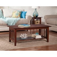 Atlantic Furniture Mission Walnut Coffee Table