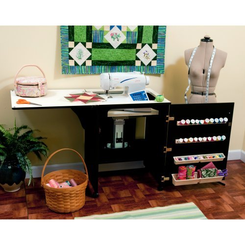 Arrow 503 - Sewnatra Sewing Cabinet - Black with air lift mechanism