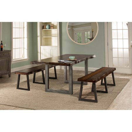 Hillsdale Furniture Emerson 3-Piece Rectangle Dining Set, Multiple (Hillsdale House Black Dining Table Set)