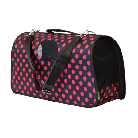 Kritterworld Portable Folding Soft Sided Pet Carrier Airline Travel Cat Dog Kitten Puppy Crate Kennel Small Animals Tote Bag  21 Inch  For Pets Up To 16 Pounds
