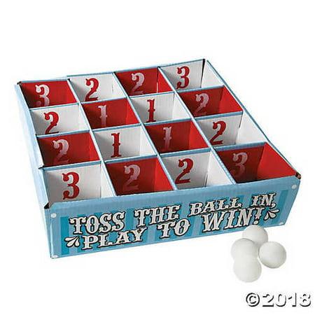 Carnival Table Tennis Ball Toss Game - Football Toss Carnival Game