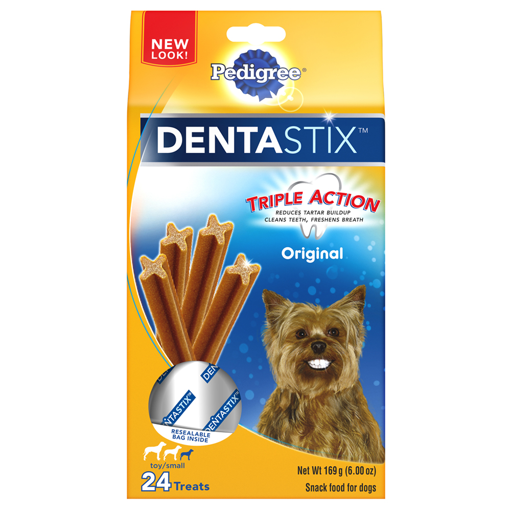 PEDIGREE DENTASTIX Original Toy/Small Treats for Dogs 6 Ounces 24 Treats