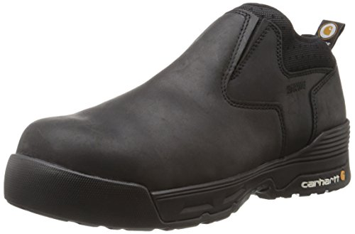 Carhartt Men's Force Romeo Work Boot, Black Coated Leather, 12 W US
