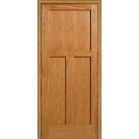 Doorbuild 3 Flat Panel 37 5 Red Oak Right Hand Prehung Interior Door