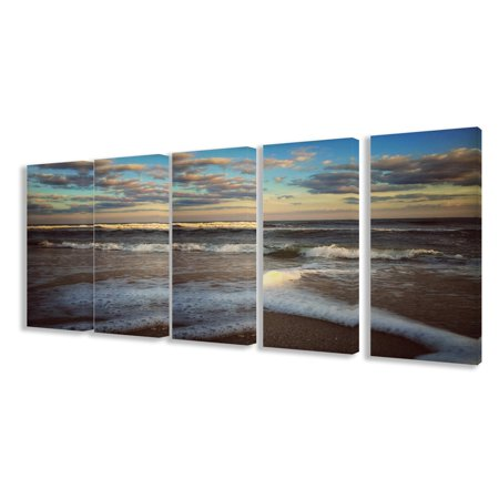 The Stupell Home Decor Collection Ocean Shore Landscape Canvas Art - Set of 5 ()