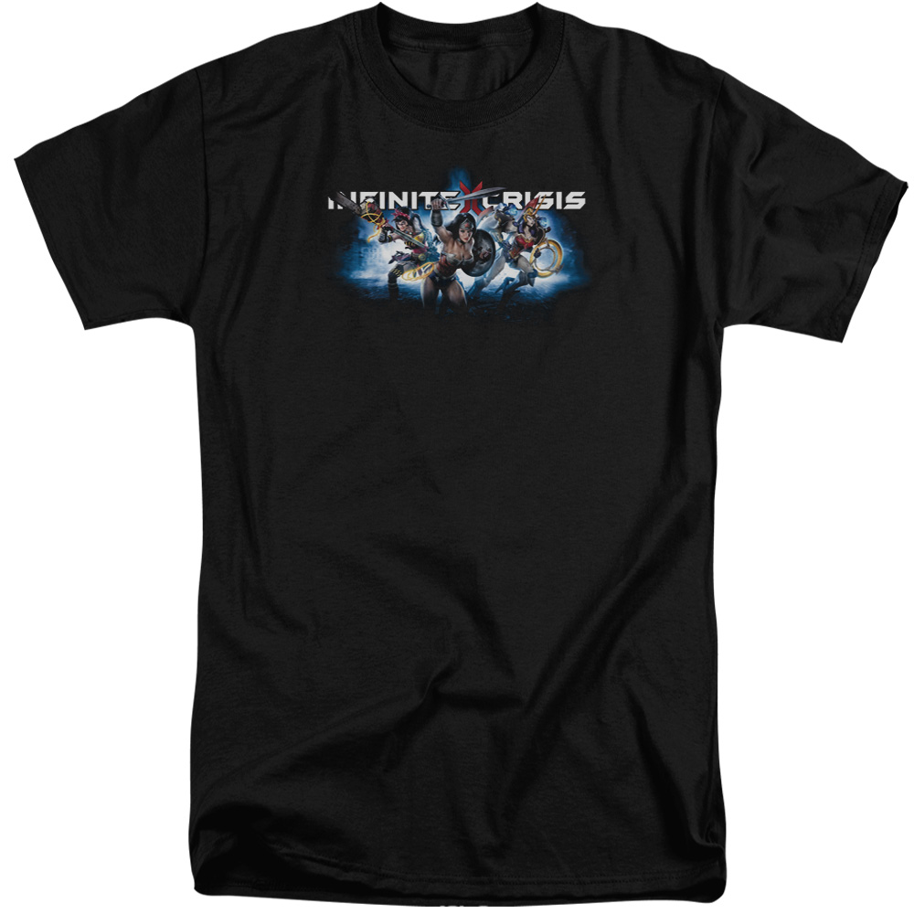 Infinite Crisis Ic Blue Mens Big and Tall Shirt