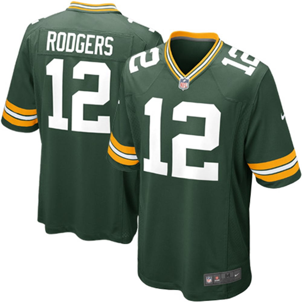 Green Bay Packers #12 Aaron Rodgers On-Field Style Youth Jersey