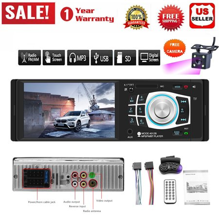 Vehicle Parts 4.1'' 1DIN Car Stereo Radio Bluetooth FM USB AUX MP4 MP5 Player Wheel Control (Best Wheels For Mx5)