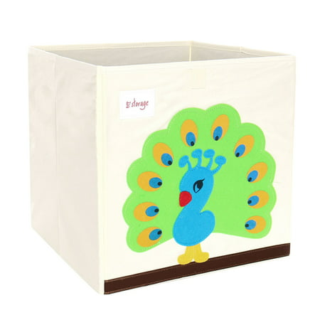 - Foldable Toys Storage Bins Cartoon Cardboard Fabric Cubes 13x13x13