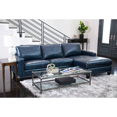 Devon and Claire Landis Top Grain Leather Sectional