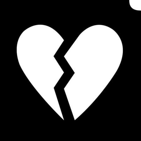 Glimmer Body Art Glimmer Tattoo Stencil - Emoji Broken Hearted (5/pk)