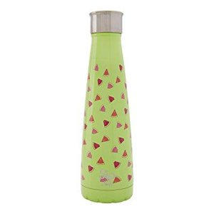 sip by swell vacuum insulated stainless steel water bottle, double wall, 15 oz, watermelon cooler