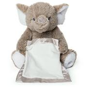 "Peek-a-Boo Furry Friends Animated Peek-a-Boo Elephant Plush, Gray, 10"""