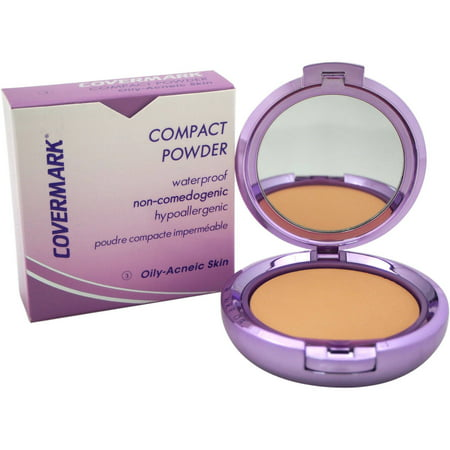 Covermark for Women Compact Powder Waterproof # 3 Oily-Acneic Skin, 0.35