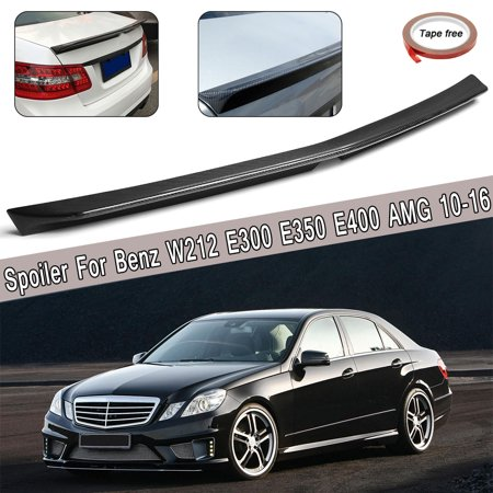 High Kick Carbon Fiber Trunk Spoiler For Mercedes-Benz W212 E300 E350 E400 AMG 4 Door Sedan 2010-2016