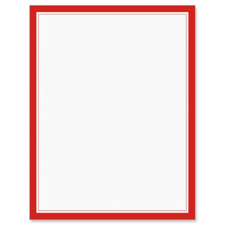 red frame patriotic letter papers set of 25 american flag