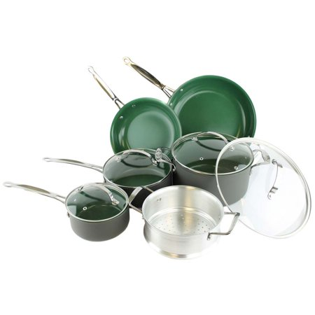 Orgreenic 10 Piece Cookware Set Walmart Com