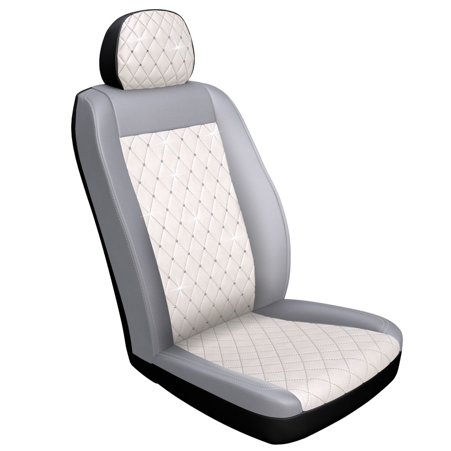 Enjoyable Premium Diamond Seat Cover With Crystals From Swarovski White Inzonedesignstudio Interior Chair Design Inzonedesignstudiocom