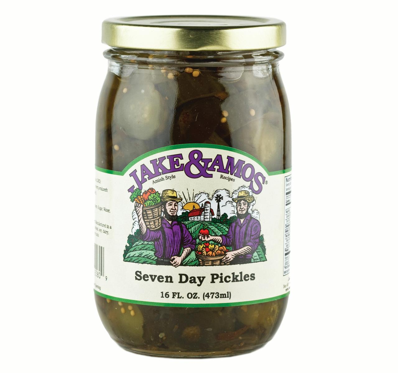 Jake & Amos Seven Day Pickles 16 oz. (3 Jars)