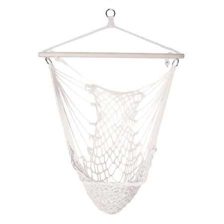 Indoor Outdoor Swing Single Outdoor Camping Cotton Rope Net Hammock Chair Dormitory Hanging Bed Adult Children Swing Patio Hanging Chair ()