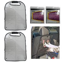 2 Pc Car Seat Back Protector Children Kick Dirt Keep Clean Durable Clear Cover