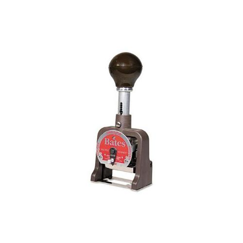 Multiple Movement Numbering Machine, Six Wheels, Re-Inkable, Size G, Black