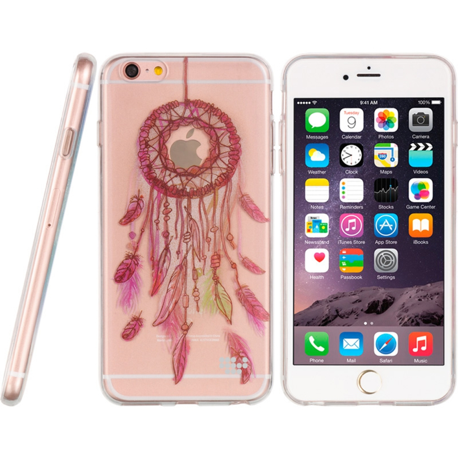 iPhone 6s Plus, iPhone 6 Plus Case, by Insten Water Color TPU Rubber Candy Skin Case Cover For Apple iPhone 6s Plus / 6 Plus