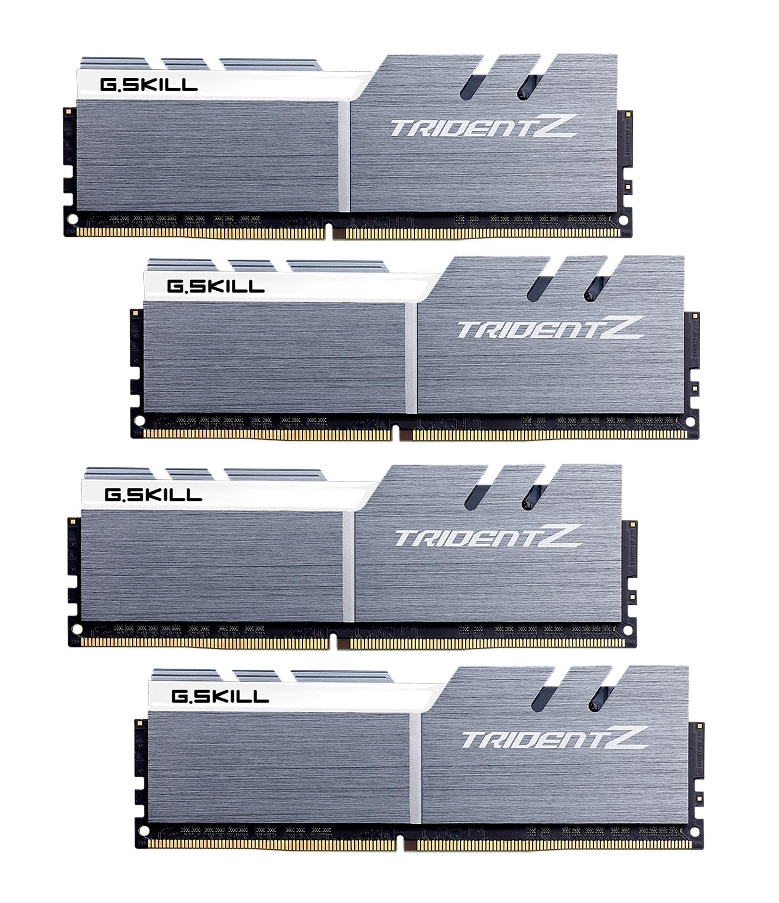64GB G.Skill DDR4 Trident Z 3200Mhz PC4-25600 CL14 White/Gray 1.35V Quad Channel Kit (4x16GB)