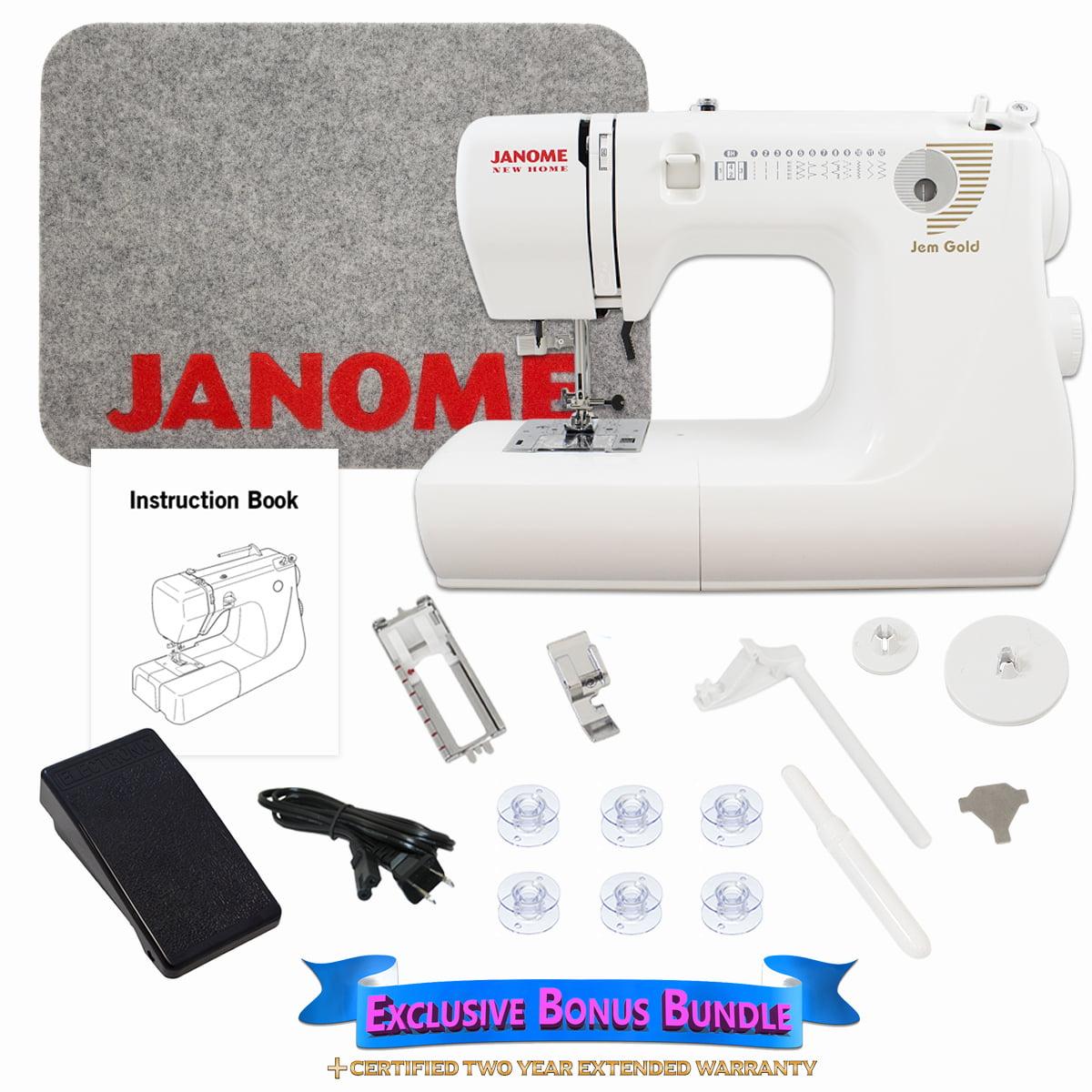 Janome Jem Gold 660 Sewing Machine Includes Exclusive Bonus Bundle