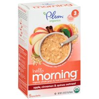 Plum Organics  Hello Morning - Apple, Cinnamon & Quinoa Oatmeal