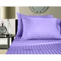 Customized Sheet Set For RV Camper Size (32x79) Stripe Lavender easy to fit in RV-mattress - 600 Thread Count 100% Cotton By The Great American Store