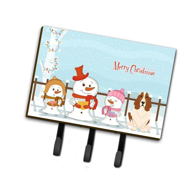 Carolines Treasures BB2352TH68 Merry Christmas Carolers Basset Hound Leash or Key Holder - image 1 de 1