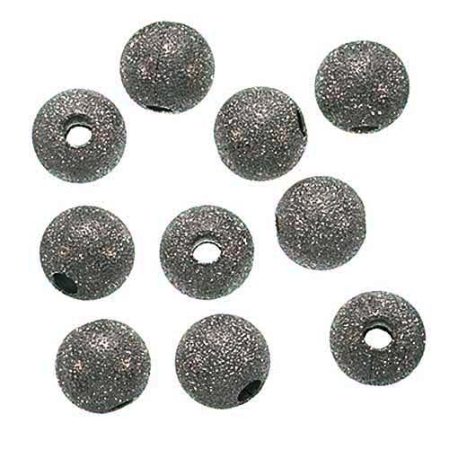 Gunmetal Plated Stardust Sparkle Round Beads 10mm (20)