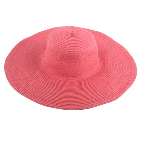 Lady Traveling Wide Brim Straw Braided Summer Beach Sun Bucket Hat Sunhat