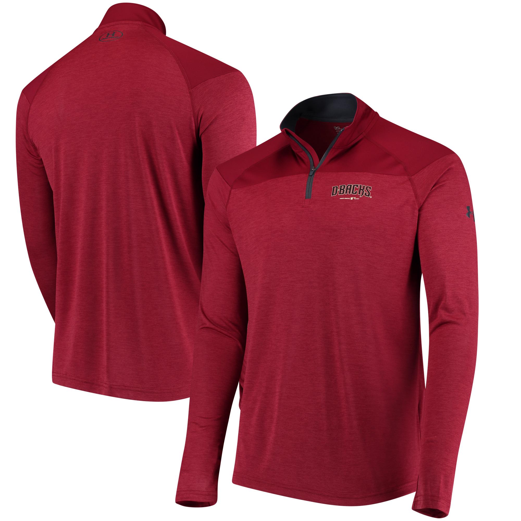 Arizona Diamondbacks Under Armour Tech Tonal Twist Quarter-Zip Pullover Jacket - Red