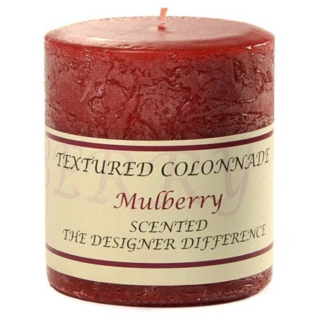 Textured Mulberry (1 Pc Textured 3x3 Mulberry Pillar Candles 3 in. diameterx3.25 in. tall)