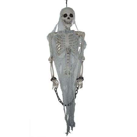 Talking Skeleton Prisoner Hanging Prop Halloween Decoration