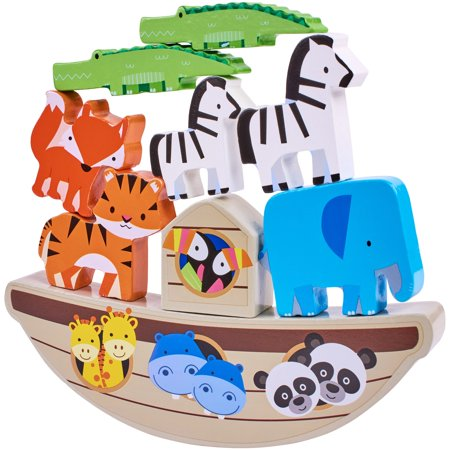 Spark. Create. Imagine. Play Wooden Balancing Blocks Play Set, Designed for Ages 18 Months and
